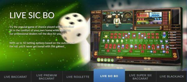 Aplikasi sbobet untuk bermain live casino