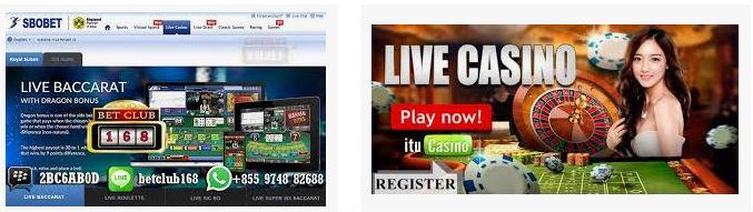 Melihat live casino di sbobet